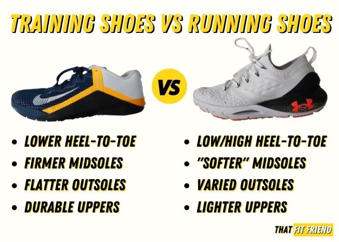 training shoes vs running shoes performance differences