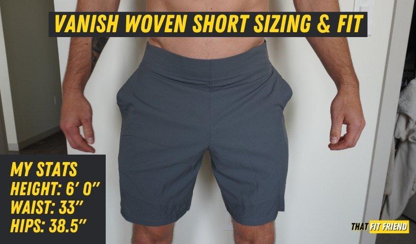 UA Vanish Woven Shorts Sizing