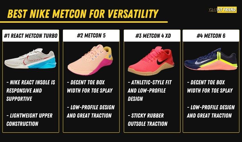best nike metcon for versatility