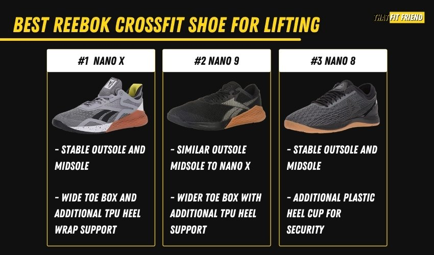 best reebok crossfit shoes for olympic lifts and heavy lifting