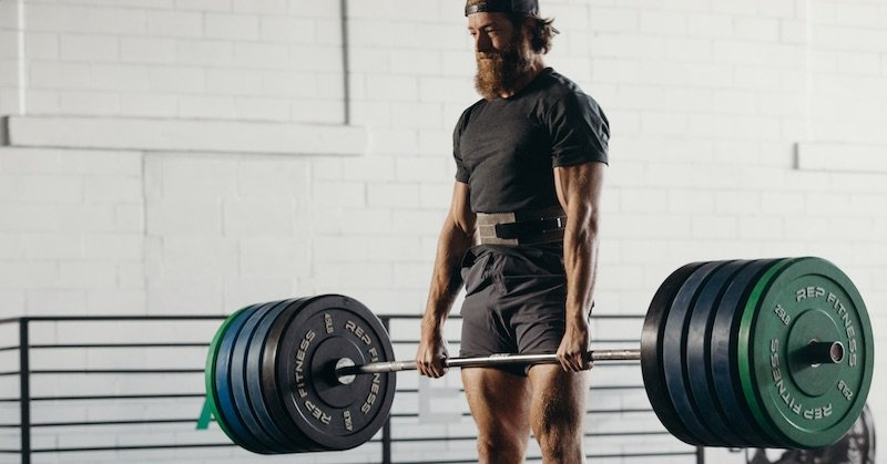 Deadlifting in cross-training shoes