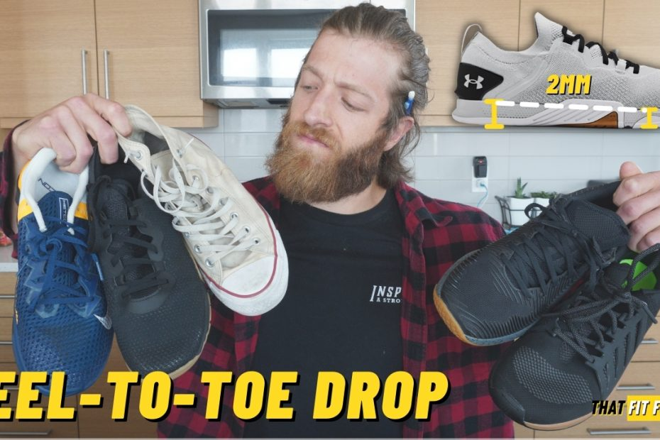 heel to toe drop explained in cross training shoes