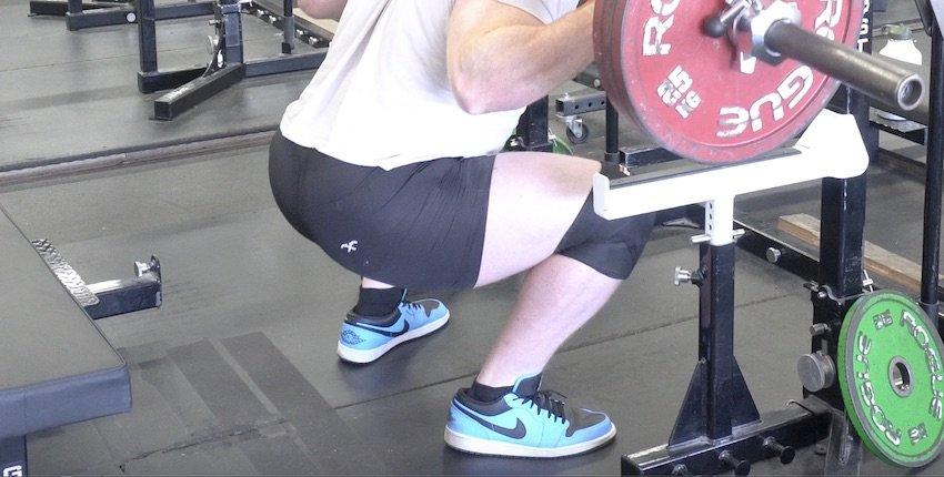 Squatting in regular shoes