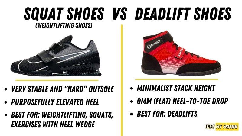 squat shoes vs deadlift shoes
