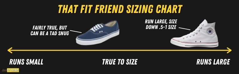 Vans Vs Converse Sizing Differences