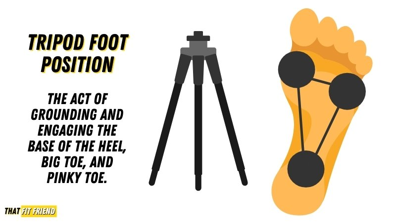 What is tripod foot position