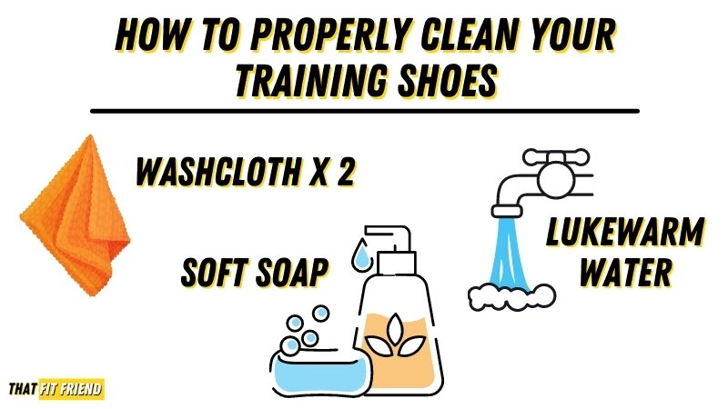 How to clean training shoes