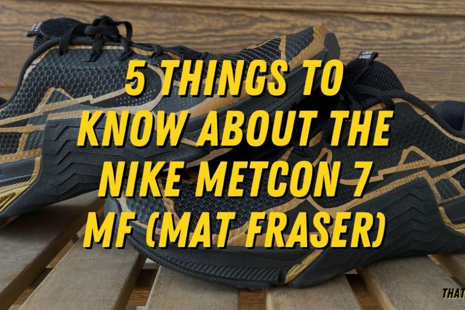 Nike Metcon 7 MF Breakdown