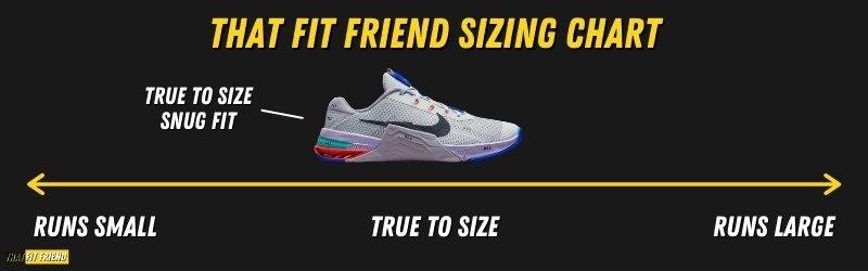 Nike Metcon 7 Sizing