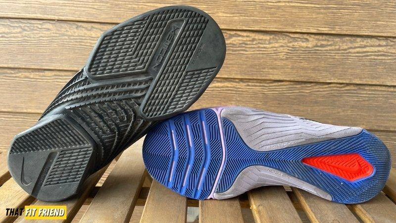Nike Metcon 7 vs React Metcon Turbo Outsole