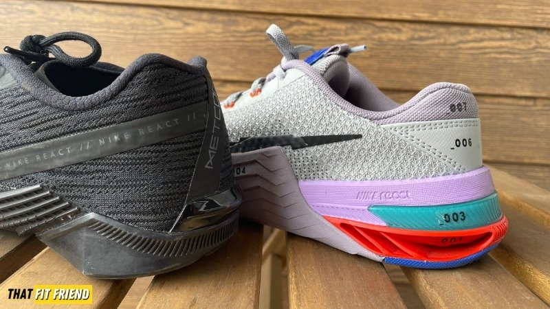 Nike Metcon 7 vs React Metcon Turbo Performance