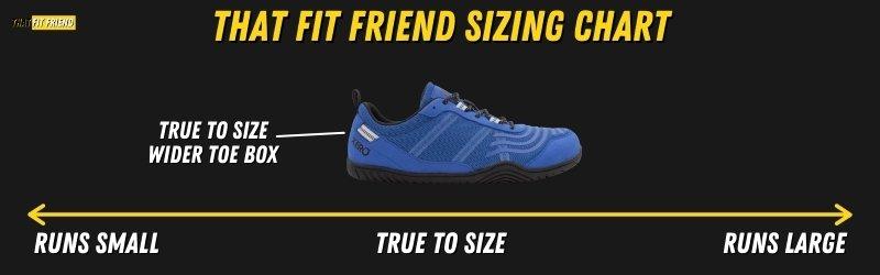 Xero Shoes 360 Sizing