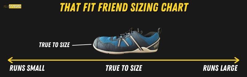 Xero Shoes Prio Sizing