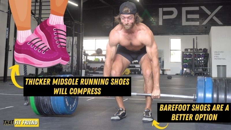 can i deadlift in running shoes