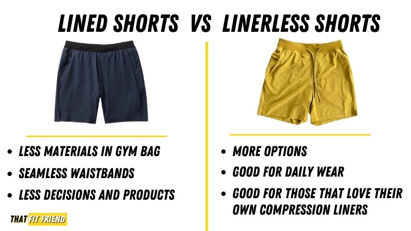 lined or linerless shorts