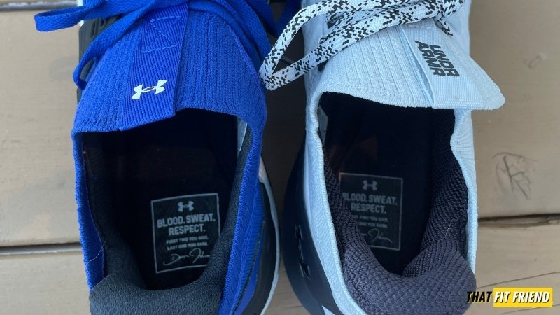under armour project rock 4 vs project rock 3 insole