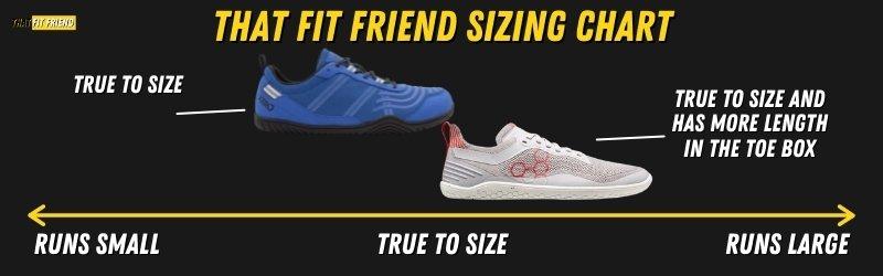 xero shoes vs vivobarefoot Sizing