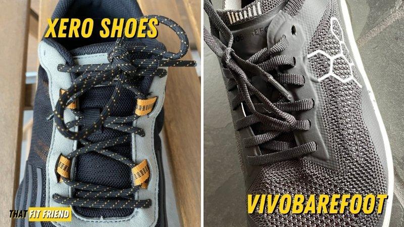 xero shoes vs vivobarefoot tongue and laces